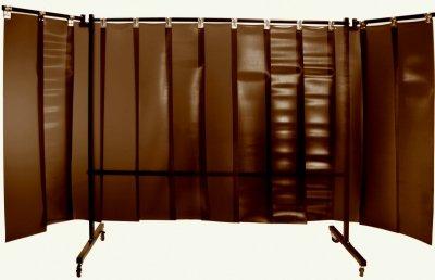 Parawan spawalniczy z lamelami REGULAR 4100x1900 mm (2100 x 1900 mm z ramionami 1000 mm)