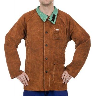 WELDAS-Lava Brown™ skórzana kurtka spawalnicza z dwoiny bydlęcej 44-7300 XXL