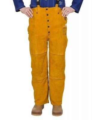 WELDAS-GOLDEN BROWN skórzane spodnie spawalnicze 44-2600 M,L,XL