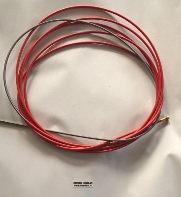 Wkład stalowy powlekany (czerwony) fi 1,2 5,4m