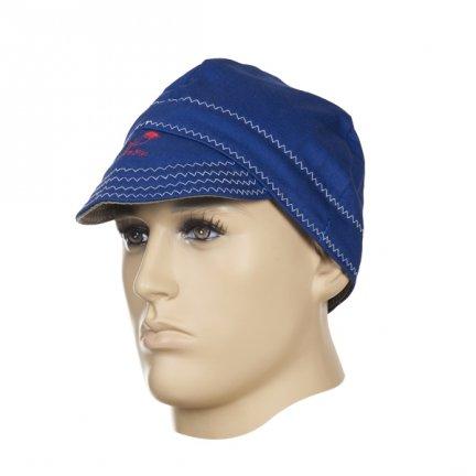 WELDAS-Fire Fox™ czapka spawalnicza, niebieska trudnopana bawełna  (60 cm)