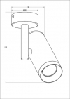 Reflektor TORI sl 1 biały 20015-WH Zuma Line