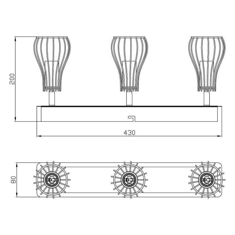 Lampa sufitowa OSCAR CK170519-3 Zuma Line