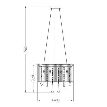 LAMPA WEWNĘTRZNA (WISZĄCA) ZUMA LINE VERONA RLD92174-8B Zuma Line