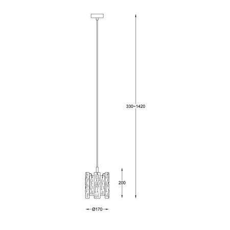 LAMPA WEWNĘTRZNA (WISZĄCA) ZUMA LINE FROZE PENDANT P0509-01D-F4AC Zuma Line