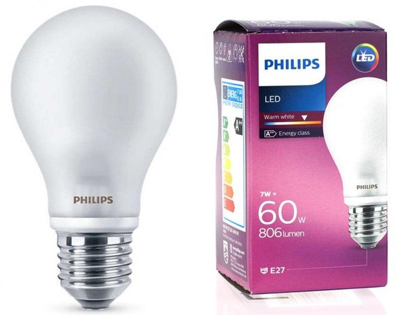 Żarówka LED 7W=60W 806lm 2700K 3000 stopni A60 Philips