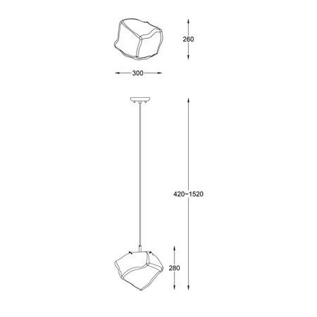 LAMPA WEWNĘTRZNA (WISZĄCA) ZUMA LINE ROCK PENDANT P0488-01A-F4FZ Zuma Line