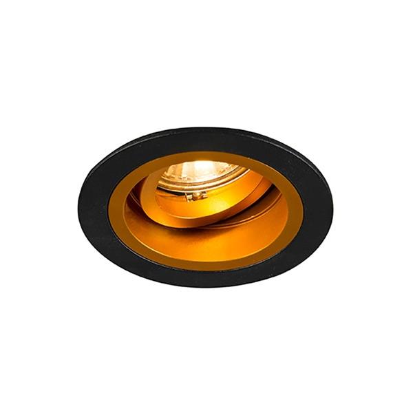 Oprawa wpuszczana CHUCK DL round czarno-złota 92702 Zuma Line