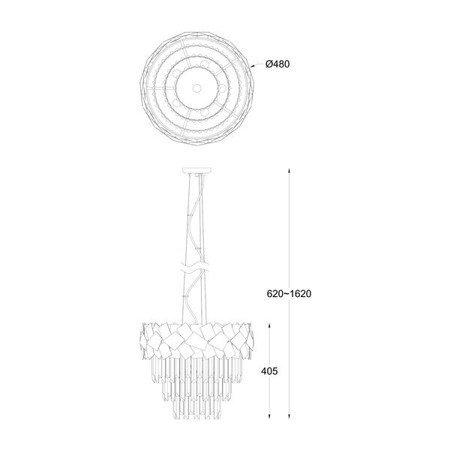 LAMPA WEWNĘTRZNA (WISZĄCA) ZUMA LINE QUASAR PENDANT P0506-06A-F4E3 Zuma Line