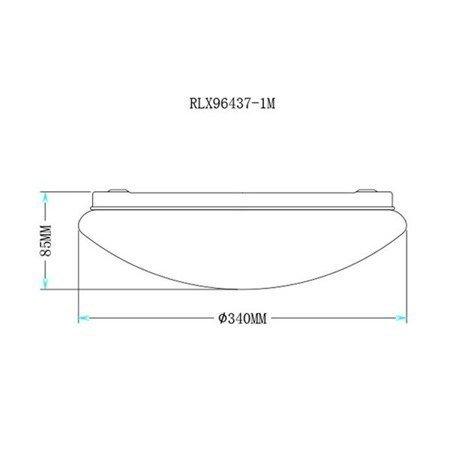 LAMPA WEWNĘTRZNA (SUFITOWA) ZUMA LINE LED CARPI CEILING RLX96437-1M Zuma Line