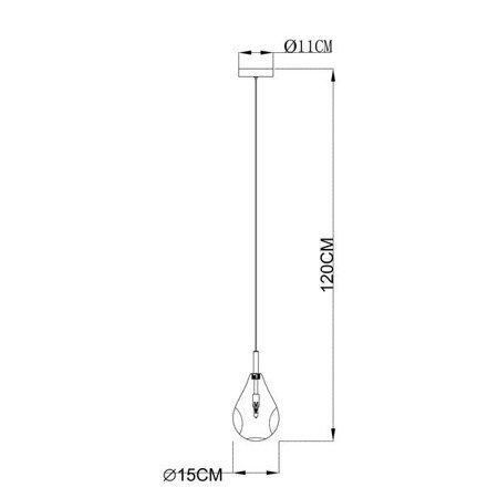 LAMPA WEWNĘTRZNA (WISZĄCA) ZUMA LINE BASTONI PENDANT MD1921-1-CLEAR Zuma Line