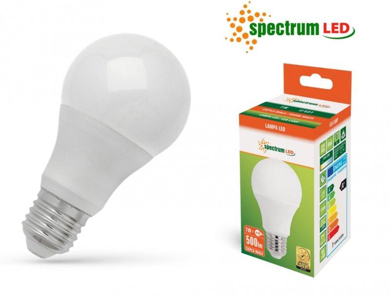 Żarówka LED 7W 3000K E27 ciepla biała WOJ+13900 SpectrumLED WOJ+13900