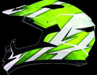 Shiro MX-734 kask motocyklowy enduro Żółty Fluo neon