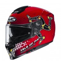 KASK HJC R-PHA-70 ISLE OF MAN IOM TT BLACK/RED M