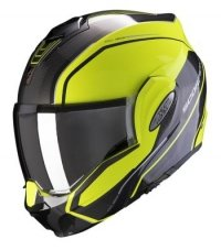 SCORPION KASK MOTOCYKLOWY EXO-TECH TIME OFF NEON YELLOW-SILVER