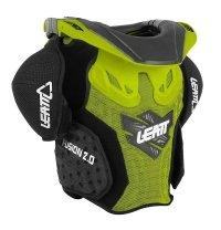 Leatt Fusion Vest 2.0 Junior ochraniacz klatki piersiowej z ochraniaczem szyi dziecięcy zielono-czarny