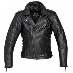 POLO Spirit Motors Freedom 2 motocyklowa kurtka ramoneska vintage skórzana czarna