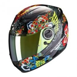 SCORPION KASK MOTOCYKLOWY EXO-490  DIVINA BK-RED-BLUE CHAME