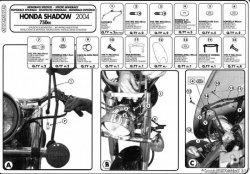 KAPPA mocowanie szyby Honda VT 750 Shadow