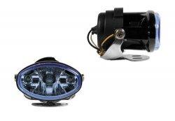 Felix, Zaawansowany technologicznie wielopowierzchniowy reflektor, niebieska soczewka, białe światło