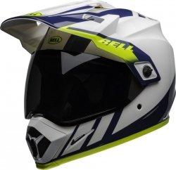 BELL MX-9 KASK MOTOCYKLOWY ADVENTURE MIPS DASH WHITE/BLUE/HI VIZ