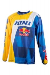Koszulka MX cross Kini Red Bull Vintage żółto-niebieska