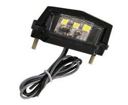 3 punktowe oświetlenie tablicy rejestracyjnej LED-SMD, białe
