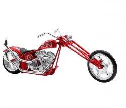 Model motocykla Custom Bike Flame czerwony