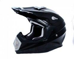 Shiro MX-911 Carbon czarny kask motocyklowy enduro r. L