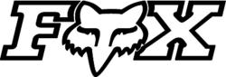 DASZEK DO KASKU FOX V1 UNDERTOW BLACK/WHITE