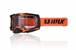 GOGLE IMX DUST GRAPHIC ORANGE/BLACK MATT - SZYBA DARK SMOKE + CLEAR (2 SZYBY W ZESTAWIE)