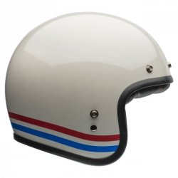 KASK BELL CUSTOM 500 DLX STRIPES PEARL WHITE M