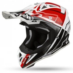 KASK AIROH AVIATOR 2.2 CHECK RED GLOSS XL