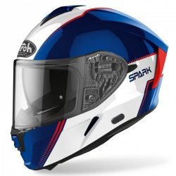 KASK AIROH SPARK FLOW BLUE/RED GLOSS XL