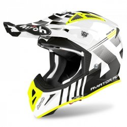 KASK AIROH AVIATOR ACE NEMESI WHITE GLOSS XL