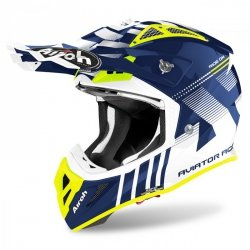 KASK AIROH AVIATOR ACE NEMESI BLUE GLOSS XL