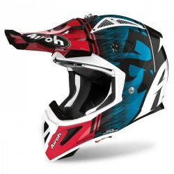 KASK AIROH AVIATOR ACE KYBON BLUE/RED GLOSS S