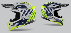 KASK AIROH AVIATOR 3 RAMPAGE BLUE GLOSS S