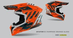 KASK AIROH AVIATOR 3 RAMPAGE ORANGE GLOSS XL
