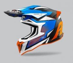 KASK AIROH STRYCKER AXE ORANGE/BLUE MATT XL