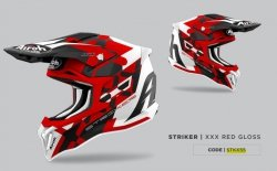 KASK AIROH STRYCKER XXX RED GLOSS S
