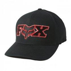 CZAPKA Z DASZKIEM FOX ELLIPSOID FLEXFIT BLACK/RED L/XL