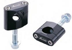 Accel mocowanie kierownicy 22,2mm wysokość 34mm ze śrubą M12 - czarny