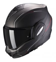 SCORPION KASK MOTOCYKLOWY EXO-TECH TIME OFF MATT BLACK-RED