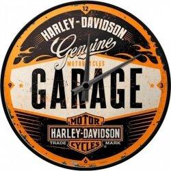 HARLEY DAVIDSON Zegar ścienny okrągły retro