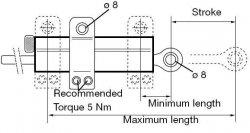 Amortyzator skrętu Ohlins 120mm uniwersalny