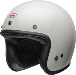 BELL CUSTOM 500 VINTAGE KASK MOTOCYKLOWY SOLID WHITE