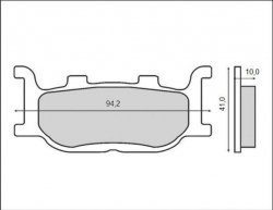 Brenta klocki hamulcowe przód Yamaha XJ 6 Diversion (09-15)