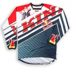 Koszulka MX offroad Kini Red Bull Vintage 2016 czerwono-niebieska