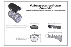PODNÓŻKI ION HONDA XRV 650/750 (87-03) XL600V (87-96) CRF1000L SILVER SW-MOTECH